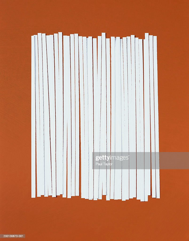 Strips of shredded paper in row : Stock Photo