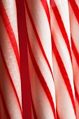 Stripy candy canes (close-up)