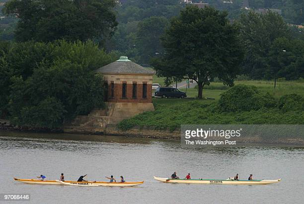 6 July 2004 South Capitol Bridge On the Anacostia River rowers take a break in front of the National Capitol Park in Anacostia This picture was taken...