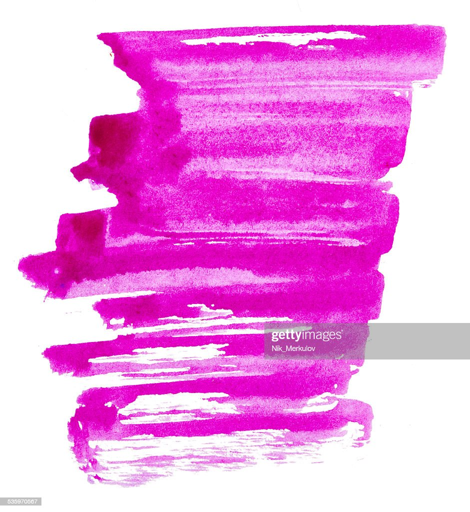 Strokes of purple paint : Stock Photo