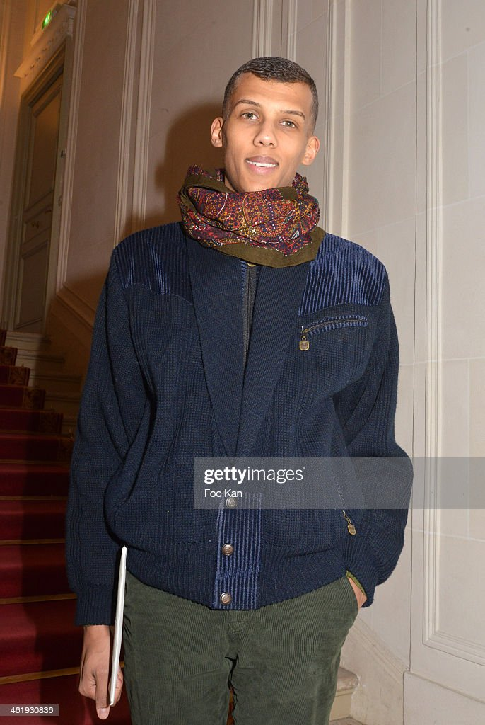 <a gi-track='captionPersonalityLinkClicked' href=/galleries/search?phrase=Stromae&family=editorial&specificpeople=6826786 ng-click='$event.stopPropagation()'>Stromae</a> attends the Walter Van Beirendonck Menswear Fall/Winter 2015-2016 show as part of Paris Fashion Week on January 21, 2015 in Paris, France.
