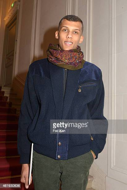 Stromae attends the Walter Van Beirendonck Menswear Fall/Winter 20152016 show as part of Paris Fashion Week on January 21 2015 in Paris France