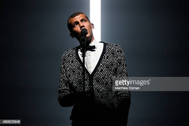 Stromae performs live at Madison Square Garden on October 1 2015 in New York City