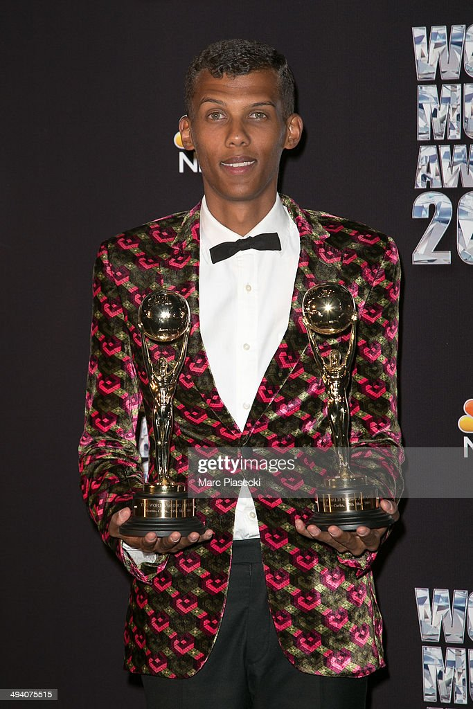 <a gi-track='captionPersonalityLinkClicked' href=/galleries/search?phrase=Stromae&family=editorial&specificpeople=6826786 ng-click='$event.stopPropagation()'>Stromae</a> poses in the Press Room during the Sporting Monte-Carlo on May 27, 2014 in Monte-Carlo, Monaco.