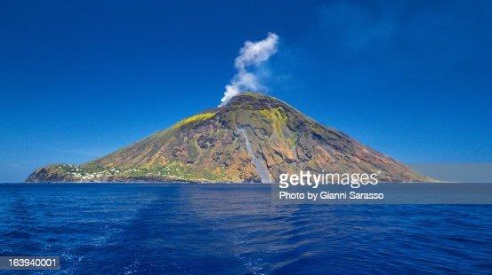 Stromboli volcanic island