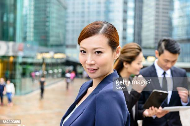 Strong confident asian business woman