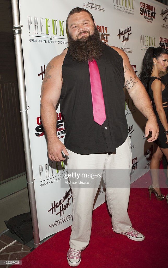 Strong Man Robert Oberst attends PREFUNC At The Celebrity Sweat VIP Party at The Palm on July 16, 2014 in Los Angeles, California.