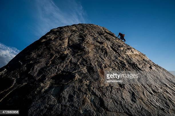 strong rock climber