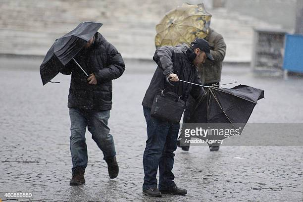 Strong winds and heavy rain have hit Istanbul Turkeys biggest city on Monday Dec 292014 Experts have warned that Istanbul could expect to see heavy...