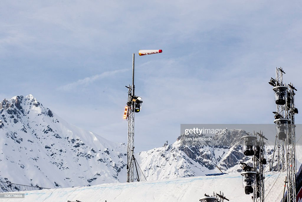 Strong winds come up during Air and Style Festival February 6, 2016 in Innsbruck, Austria.