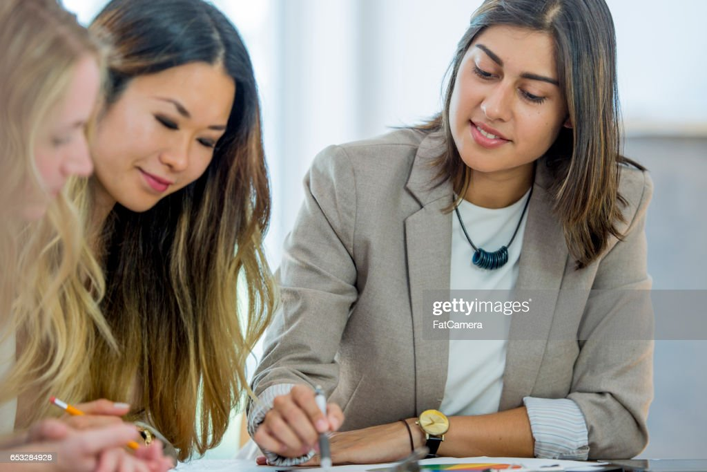 Strong Women Working Together : Stock Photo