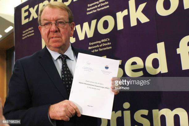 Struan Stevenson London UK Struan Stevenson President of the European Iraqi Freedom Association at press conference on March 7 in London to release...