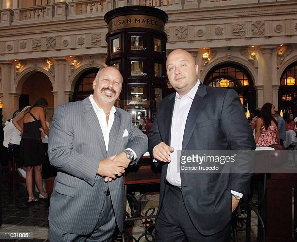 Stryker and Joe Bastianich during Mario Batali Hosts Cocktail Party at Enoteca San Marco at The Venetian Hotel and Casino Resort at Las Vegas in Las...
