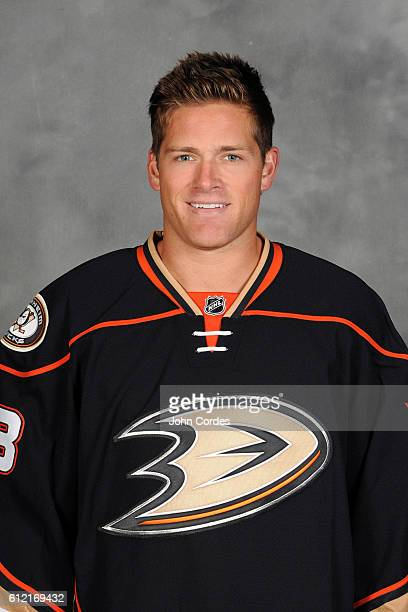 Stu Bickel of the Anaheim Ducks poses for his official headshot for the 20162017 season on September 22 2016 at Honda Center in Anaheim California
