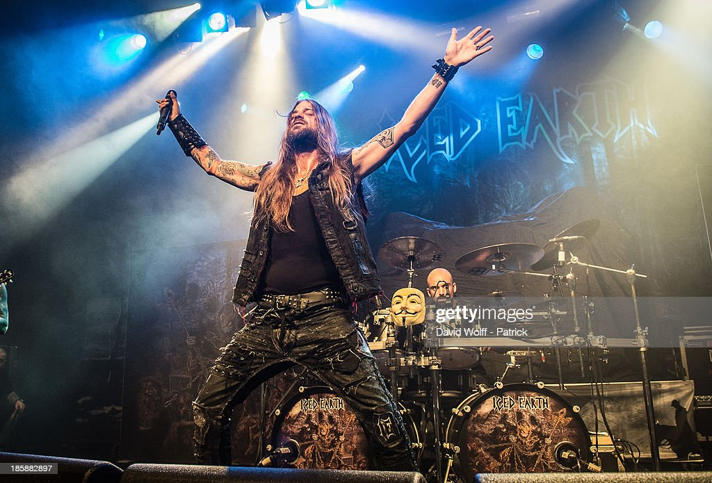 Stu Block from Iced Earth opens for Volbeat at Le Bataclan on October 25, 2013 in Paris, France.