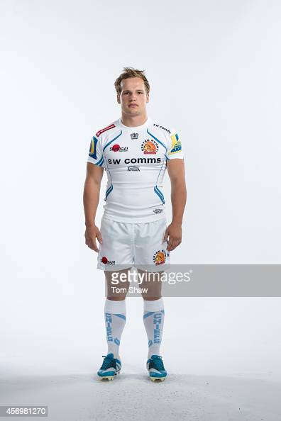 Stu Townsend of Exeter Chiefs poses for a picture during the BT Photo Shoot at Sandy Park on August 26 2014 in Exeter England