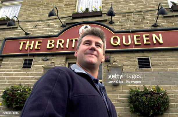 Stuart Andrew the owner of Ever Blessed who runs in the Cheltenham Gold Cup outside his local pub The British Queen in Bradford