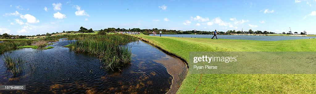 Stuart Appleby of Australia walks up the 17th fairway during round three of the 2012 Australian Open at The Lakes Golf Club on December 8, 2012 in Sydney, Australia.