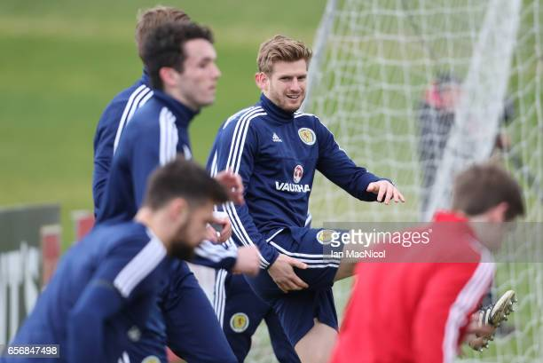 Stuart Armstrong is seen during a training session at Mar Hall on March 23 2017 in Erskine Scotland