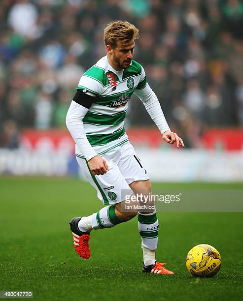 Stuart Armstrong of Celtic controls the ball during the Ladbrokes Scottish Premiership match between Motherwell and Celtic at Fir Park on October 17...