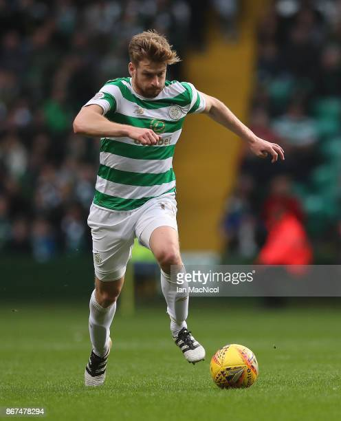 Stuart Armstrong of Celtic controls the ball during the Ladbrokes Scottish Premiership match between Celtic and Kilmarnock at Celtic Park Stadium on...