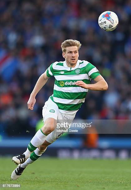 Stuart Armstrong of Celtic during the Betfred Cup SemiFinal match between Rangers and Celtic at Hampden Park on October 23 2016 in Glasgow Scotland
