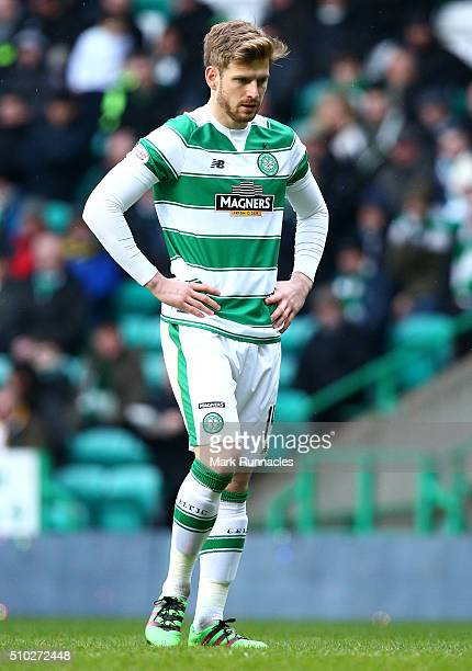 Stuart Armstrong of Celtic in action during the Ladbrokes Scottish Premiership match between Celtic and Ross County at Celtic Park Stadium on...
