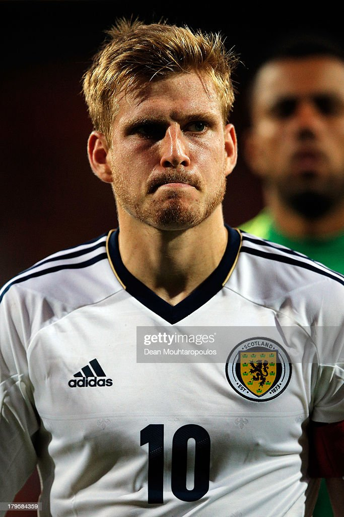 Stuart Armstrong of Scotland looks dejected after defeat in the 2015 UEFA European U21 Championships Qualifier between Netherlands U21s and Scotland U21s held at De Goffert Stadion on September 5, 2013 in Nijmegen, Netherlands.