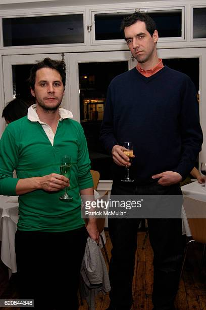 Stuart Bailey and Adam Putnam attend Whitney Biennial Artists Party at Trata Estiatoria on March 8 2008 in New York City
