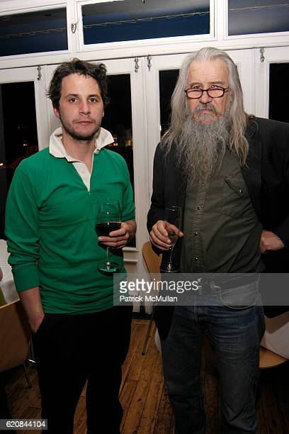 Stuart Bailey and Olivier Mossset attend Whitney Biennial Artists Party at Trata Estiatoria on March 8 2008 in New York City
