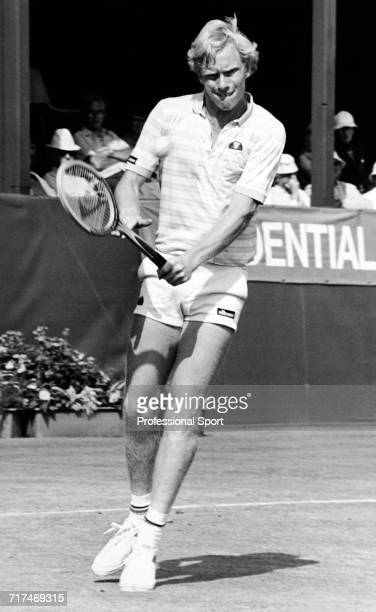 Stuart Bale of Great Britain in action during the Under 18's Boys Championships in Eastbourne England circa June 1982
