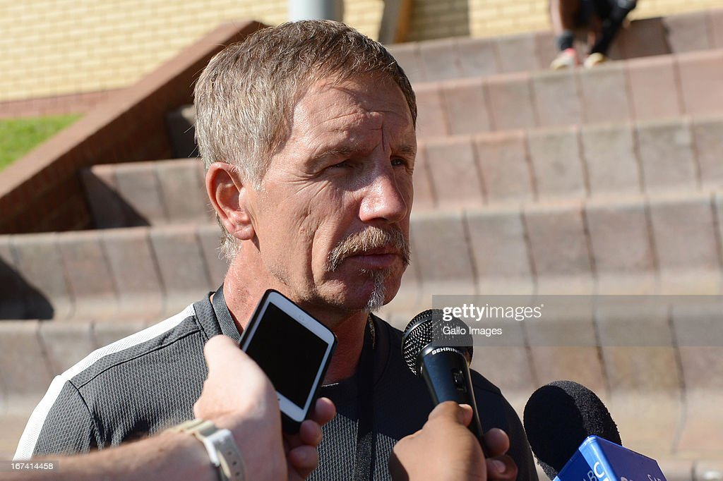 Stuart Baxter attends a Kaizer Chiefs training session at Naturena on April 25 2013 in Johannesburg South Africa