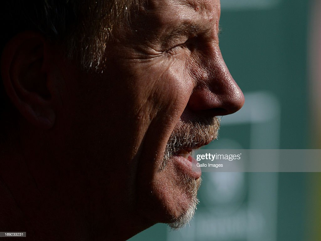 Stuart Baxter being interviewed during the Kaizer Chiefs Media Open Day at Naturena on May 22 2013 in Johannesburg South Africa