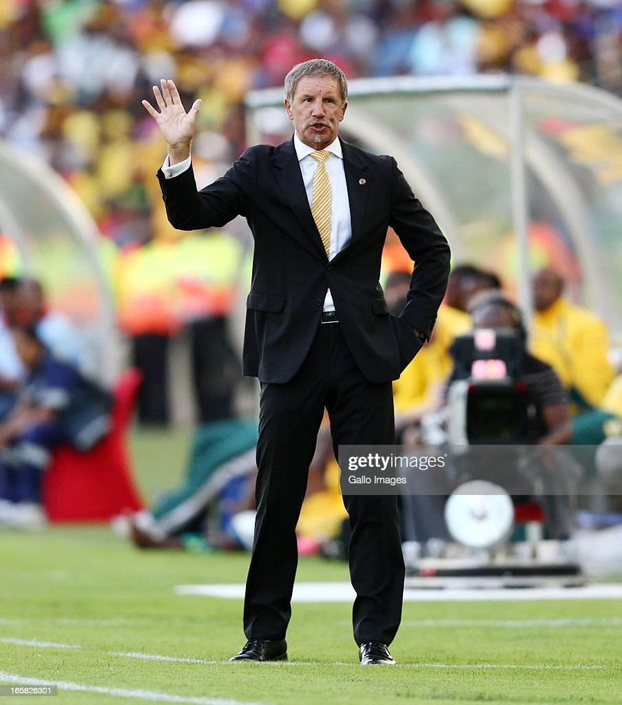 Stuart Baxter during the Absa Premiership match between Golden Arrows and Kaizer Chiefs at Moses Mabhida Stadium on April 06 2013 in Durban South...