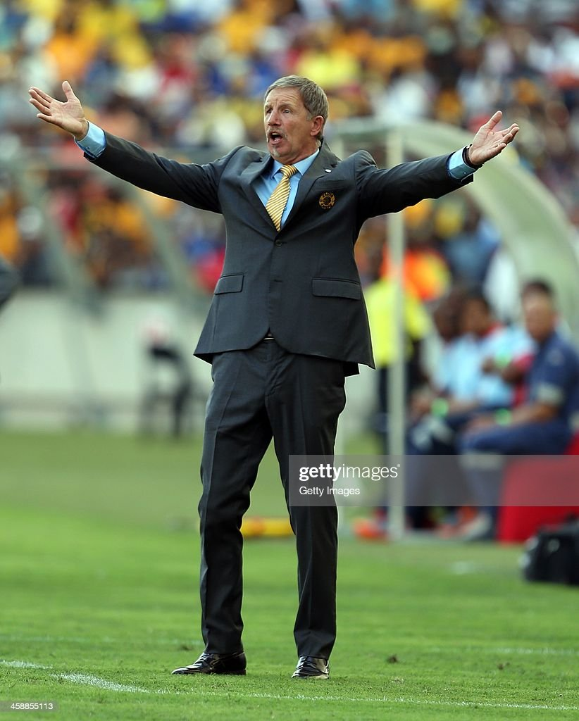 Stuart Baxter, Head Coach of Kaizer Chiefs during the Absa Premiership match between AmaZulu and Kaizer Chiefs at Moses Mabida Stadium on December 22, 2013 in Durban, South Africa.