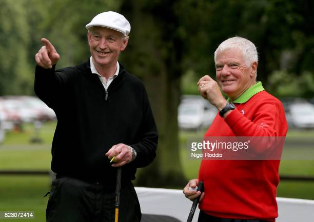 NOTTINGHAM ENGLAND JULY 26 Stuart Belcher and John Lower of Wollaton Golf Club Golf Club during Day 1 of the PGA Super 60s Tournament on July 26 2017...