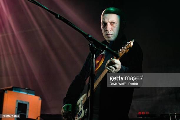 Stuart Braithwaite from Mogwai performs at Le Grand Rex on October 23 2017 in Paris France