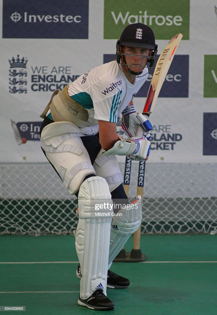 <a gi-track='captionPersonalityLinkClicked' href=/galleries/search?phrase=Stuart+Broad&family=editorial&specificpeople=574360 ng-click='$event.stopPropagation()'>Stuart Broad</a> during England Nets session ahead of the 2nd Investec Test match between England and Sri Lanka at Emirates Durham ICG on May 26, 2016 in Chester-le-Street, United Kingdom.