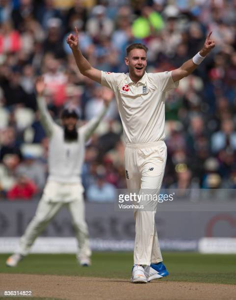 Stuart Broad of England during day three of the 1st Investec test match between England and West Indies at Edgbaston Cricket Ground on August 19 2017...