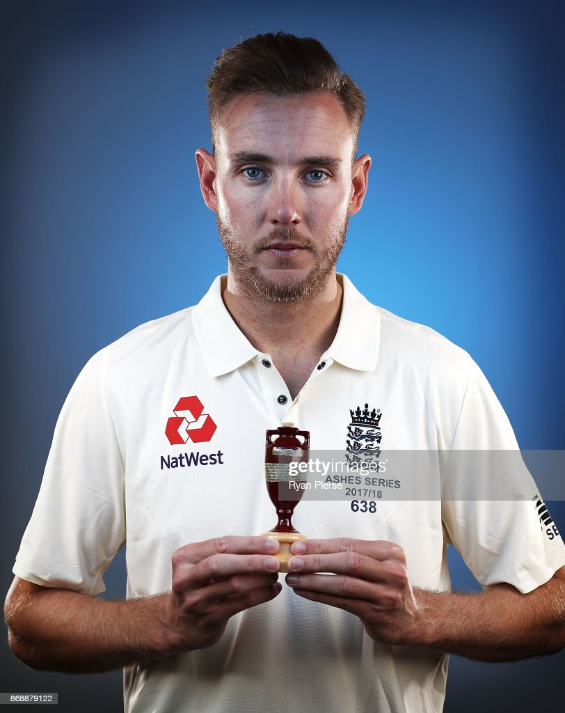 Stuart Broad of England poses during the 2017/18 England Ashes Squad portrait session at the WACA on November 1, 2017 in Perth, Australia.
