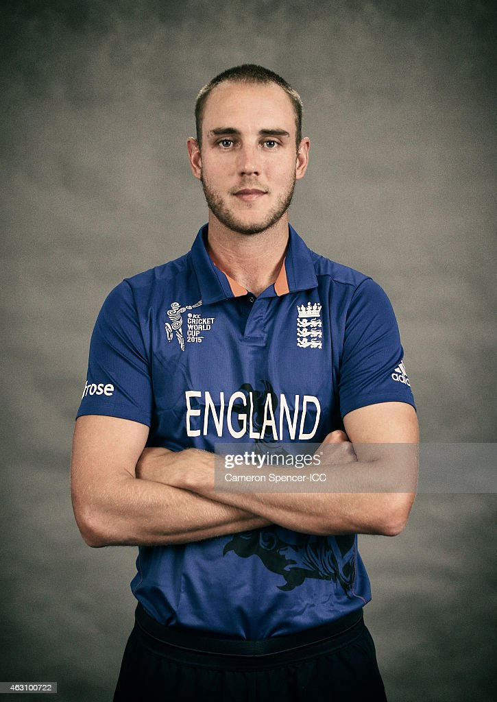 <a gi-track='captionPersonalityLinkClicked' href=/galleries/search?phrase=Stuart+Broad&family=editorial&specificpeople=574360 ng-click='$event.stopPropagation()'>Stuart Broad</a> of England poses during the England 2015 ICC Cricket World Cup Headshots Session at the Intercontinental on February 7, 2015 in Sydney, Australia.