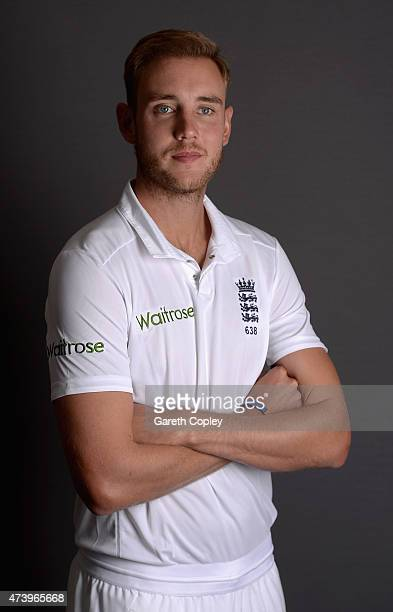 Stuart Broad of England poses for a portrait at Lord's Cricket Ground on May 19 2015 in London England