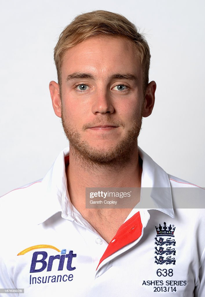 Stuart Broad poses during an England cricket headshots session at the InterContinental Sydney on November 11, 2013 in Sydney, Australia.