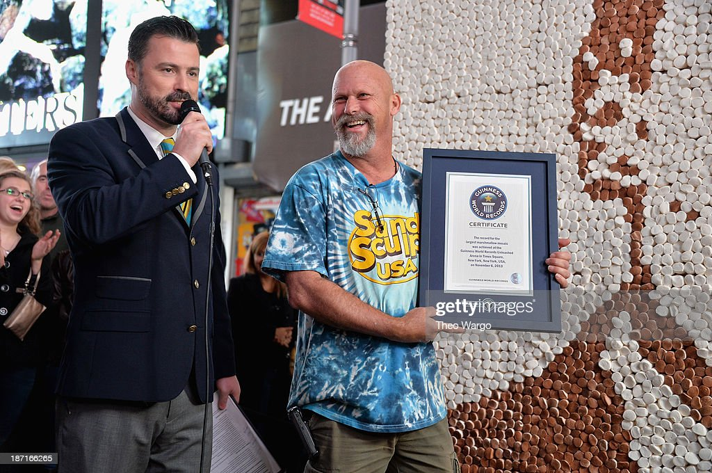 Stuart Claxton (L) and Andy Gertler at the Guinness World Records Unleashed Arena in Times Square on November 6, 2013 in New York City. (Photo by Theo Wargo/WireImage) 24244_003_TW_0321.JPG
