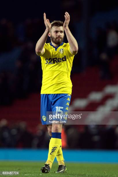 Stuart Dallas of Leeds United acknowledges the fans after the Sky Bet Championship match between Blackburn Rovers and Leeds United at Ewood Park on...