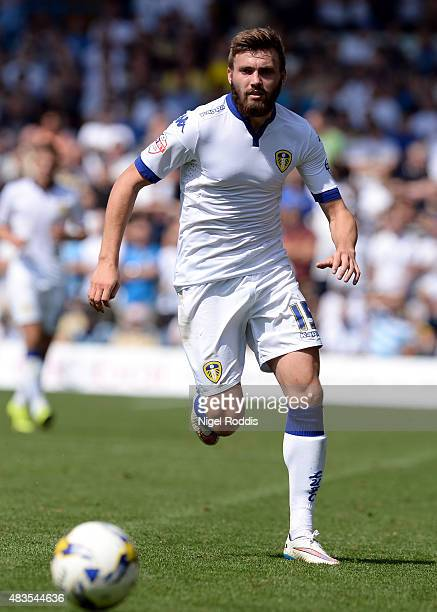 Stuart Dallas of Leeds United during the Sky Bet Championship match between Leeds United and Burnley at Elland Road on August 8 2015 in Leeds England