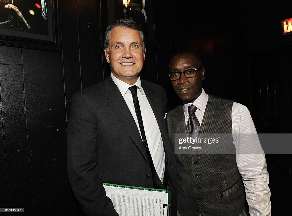 Stuart Ford and <a gi-track='captionPersonalityLinkClicked' href=/galleries/search?phrase=Don+Cheadle&family=editorial&specificpeople=202096 ng-click='$event.stopPropagation()'>Don Cheadle</a> attend the IM Global/UTA Reception for 'Kill The Trumpet Player' on November 7, 2013 in Santa Monica, California.