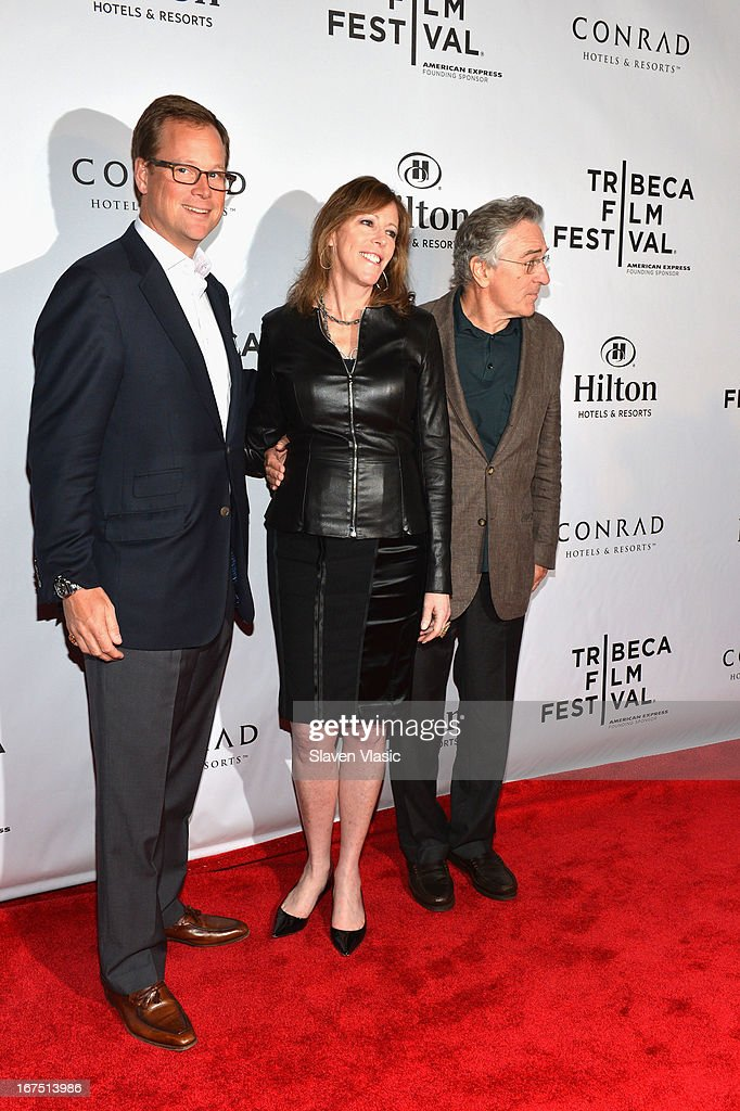 Stuart Foster, Jane Rosenthal and Robert De Niro attend the TFF Awards Night during the 2013 Tribeca Film Festival on April 25, 2013 in New York City.