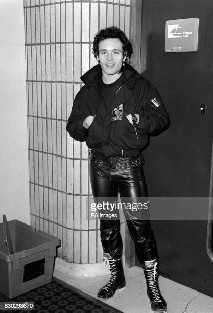 Stuart Goddard lead singer of 'Adam and the Ants' at Heathrow Airport London before leaving for New York for the start of their concert tour
