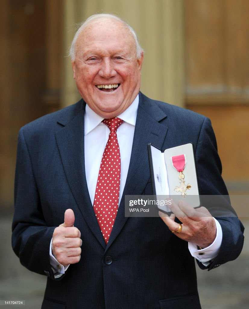 Stuart Hall after he was made an Officer of the British Empire (OBE) by Queen Elizabeth II at an Investiture ceremony at Buckingham Palace on March 22, 2012 in London, England .